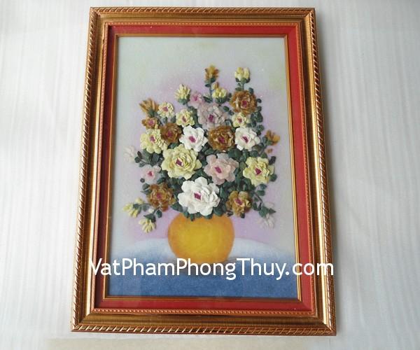 tpc05 tranh hoa xep nho 02 Tranh đá quý phong thủy tinh xảo: Hoa xếp nhỏ TPC05